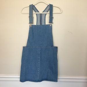 Topshop moto | denim overall dress